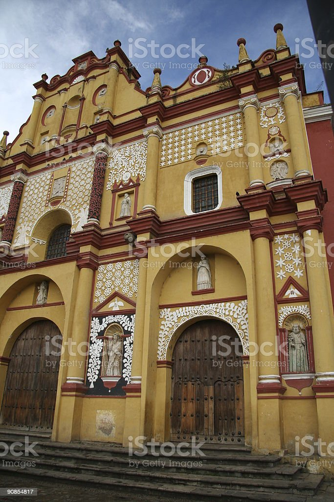 church of San Cristobal Mexico royalty-free stock photo