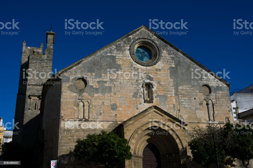 Church of San Dionisio facade (Iglesia de San Dionisio stock photo