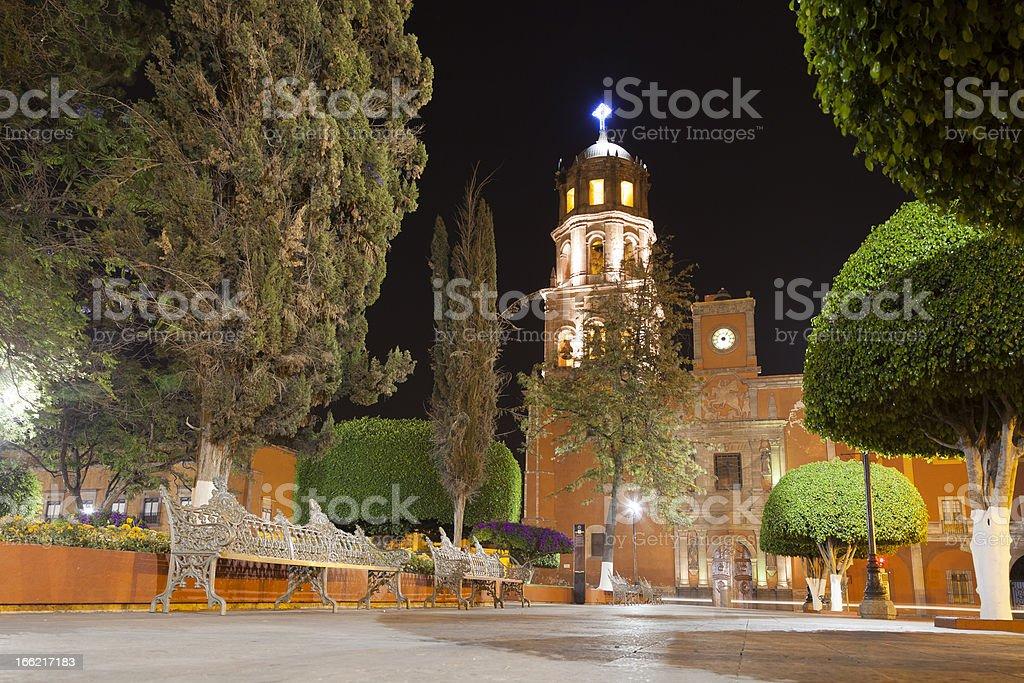 Church of San Francisco in Queretaro, Mexico stock photo