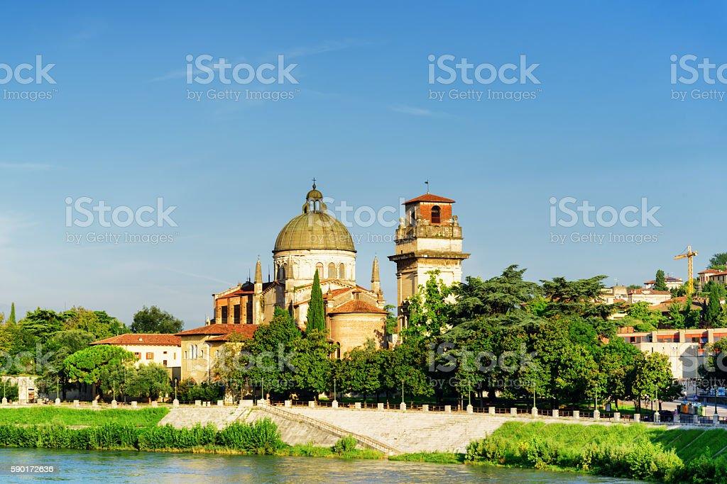 Church of San Giorgio in Braida, Verona, Italy stock photo