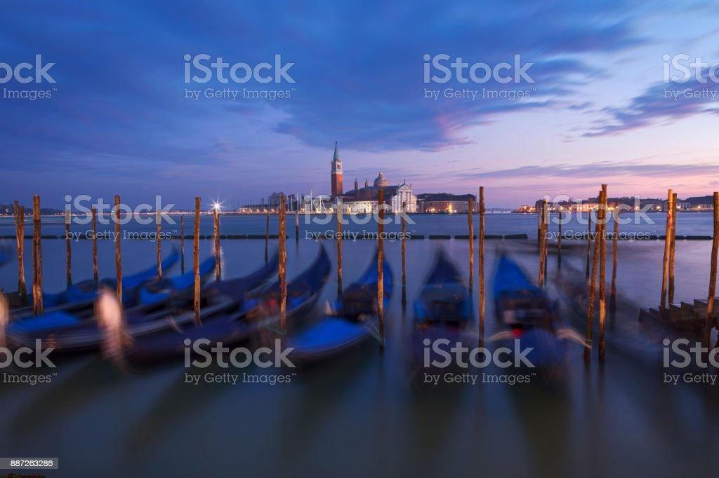 Église de San Giorgio Maggiore et gondoles, Venise, Italie - Photo