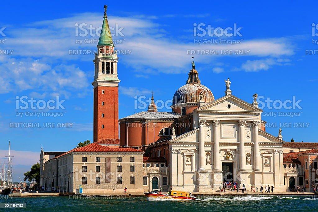 Church of San Giorgio Maggiore at evening. Venice, Italy stock photo