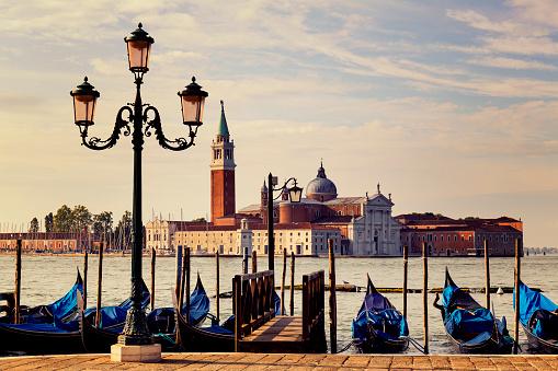 Church of San Giorgio Maggiore in Venice at sunrise