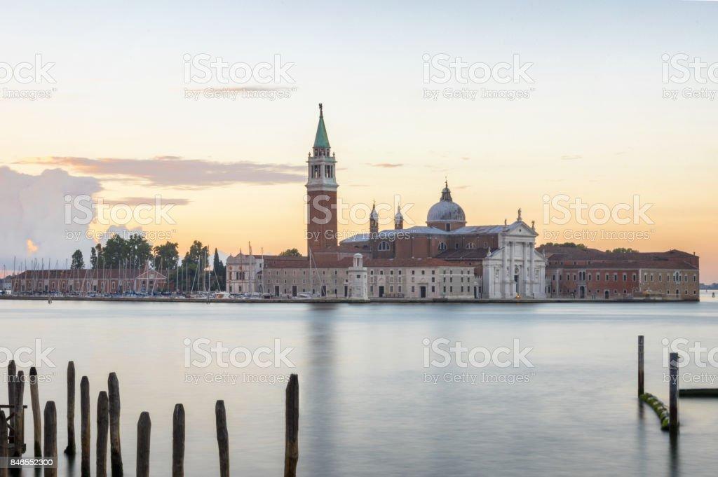 church of san giorgio maggiore venecia venice venezia mornig sunrise stock photo