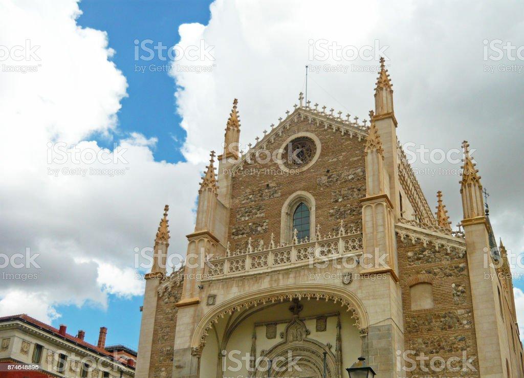Church of San Jeronimo el Real stock photo