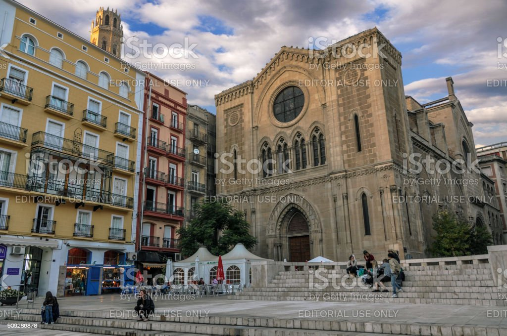 Church of San Juan located in the Plaza de San Juan stock photo