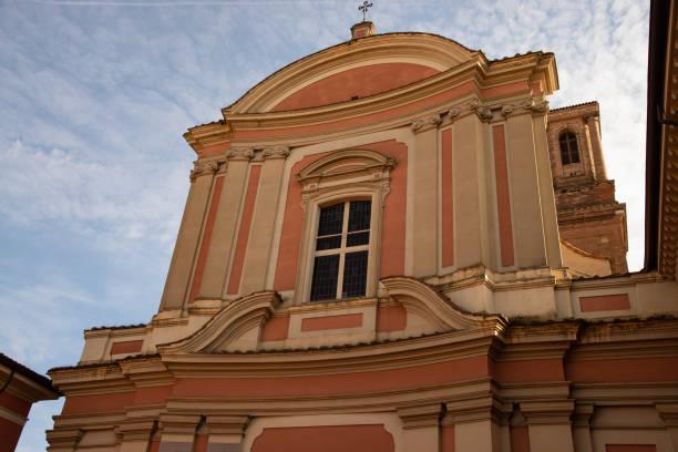 Church of San Lorenzo Piazza Cardinal Lambertini in Cento, Ferrara, Italy. stock photo
