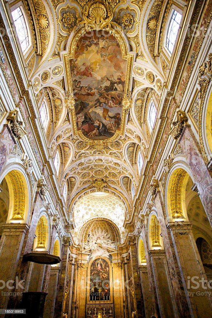 Church of San Luigi dei Francesi in Rome royalty-free stock photo