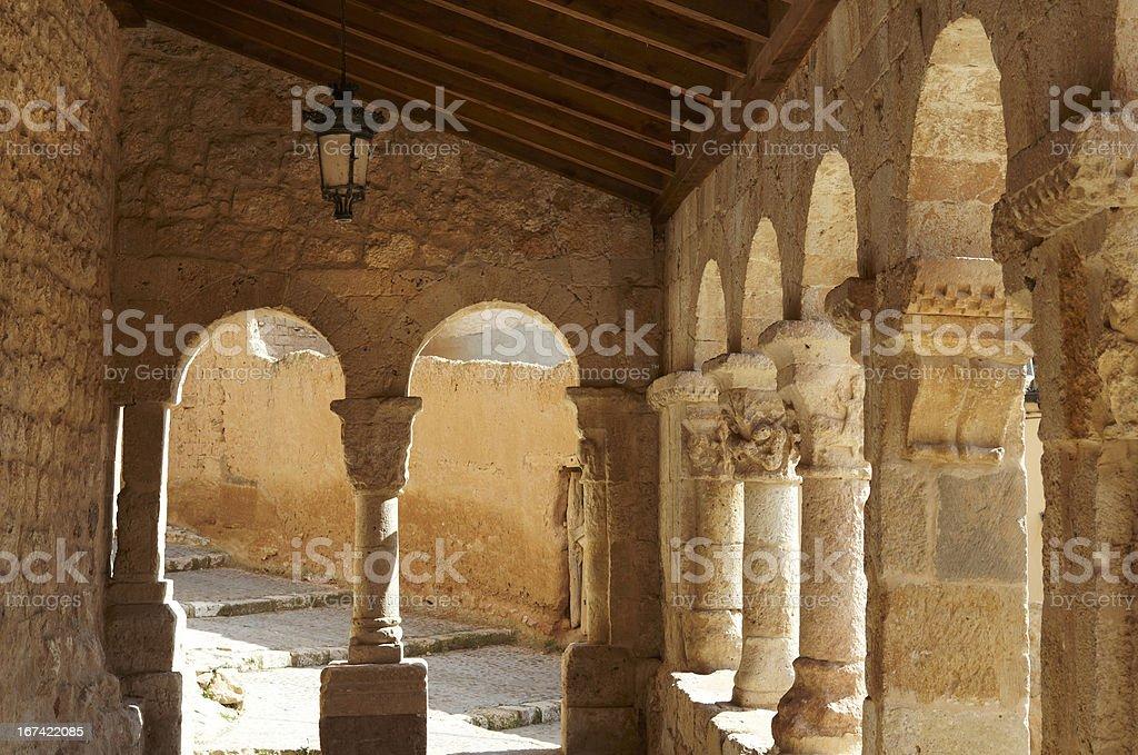 Church of San Miguel Arcangel stock photo