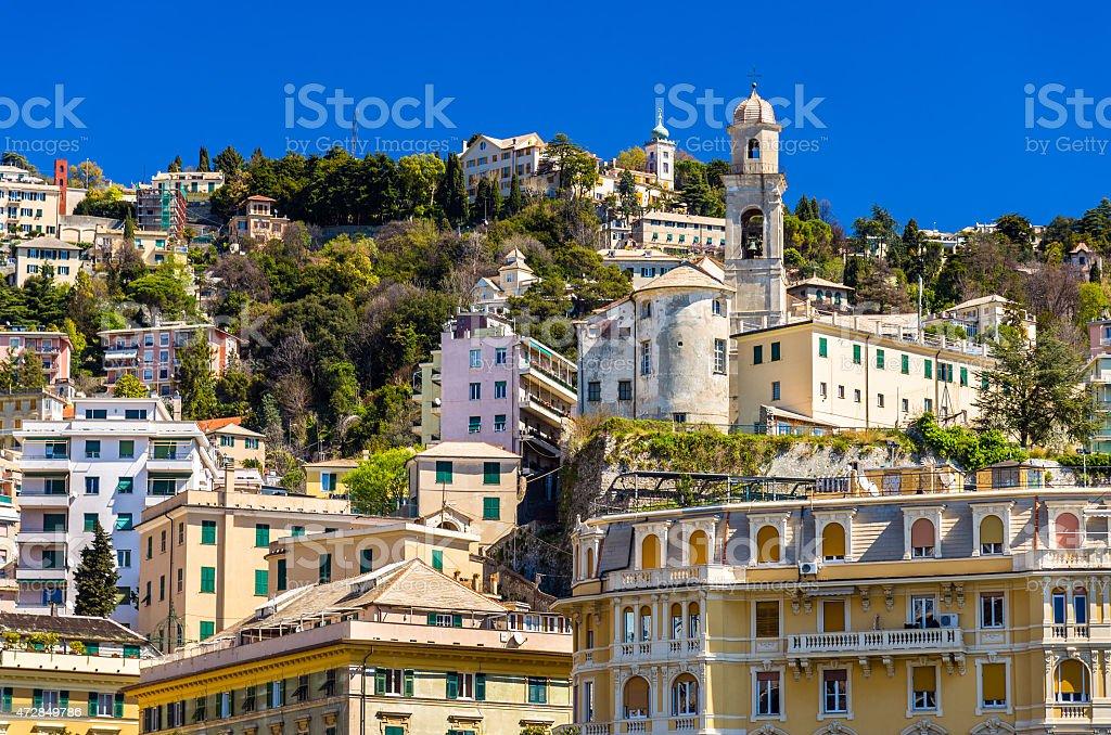 Church of San Nicola da Tolentino in Genoa - Italy stock photo