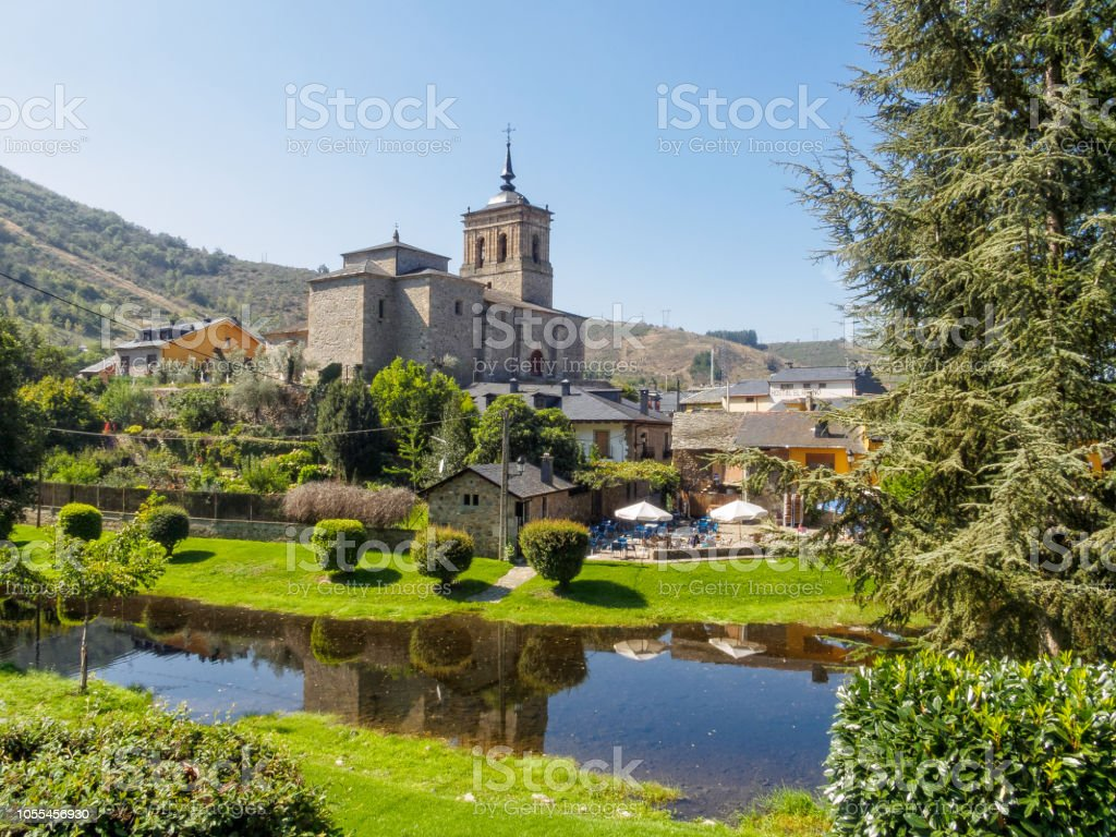 Church of San Nicolas  - Molinaseca stock photo