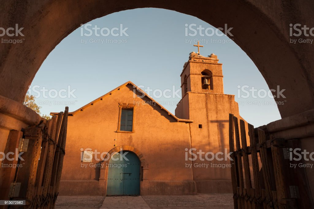 Church of San Pedro de Atacama, Atacama Desert, Chile - South America stock photo