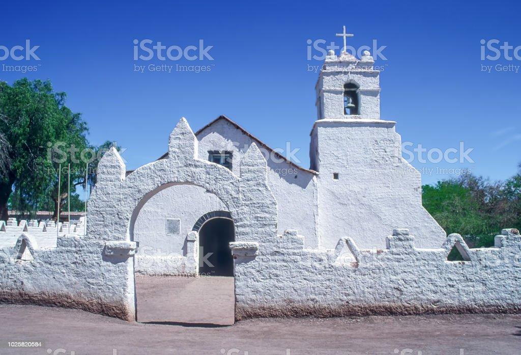 Church of San Pedro de Atacama - Chile stock photo