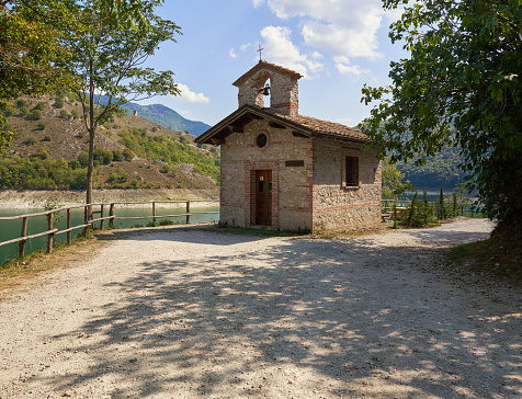 Tiny church built in stone in the Province of Rieti