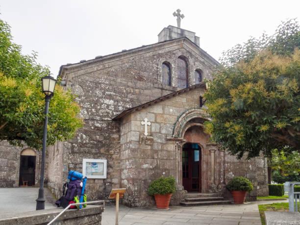 Church of San Tirso - Palas de Rei stock photo