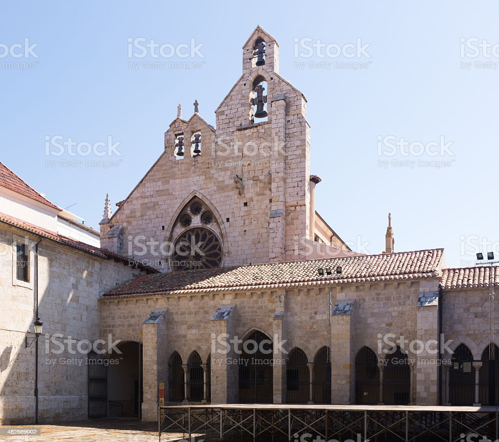 Church of Sant Francisco  in Palencia stock photo
