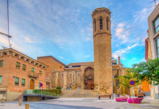 church of sant llorenc at lleida, spain - lleida zdjęcia i obrazy z banku zdjęć