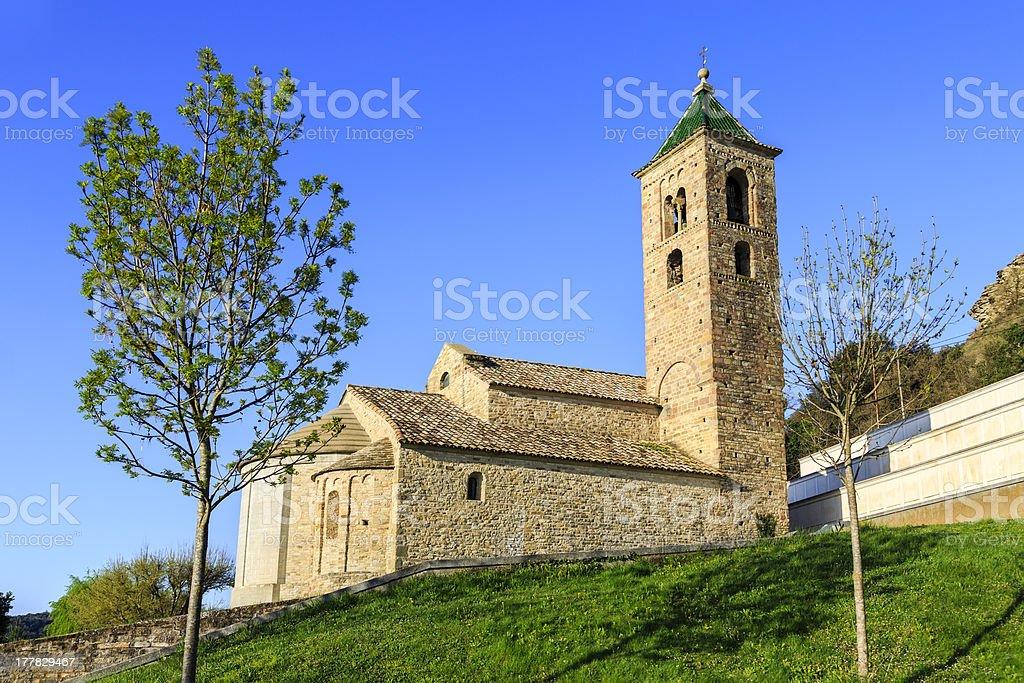 church of Sant Vicent de Malla royalty-free stock photo