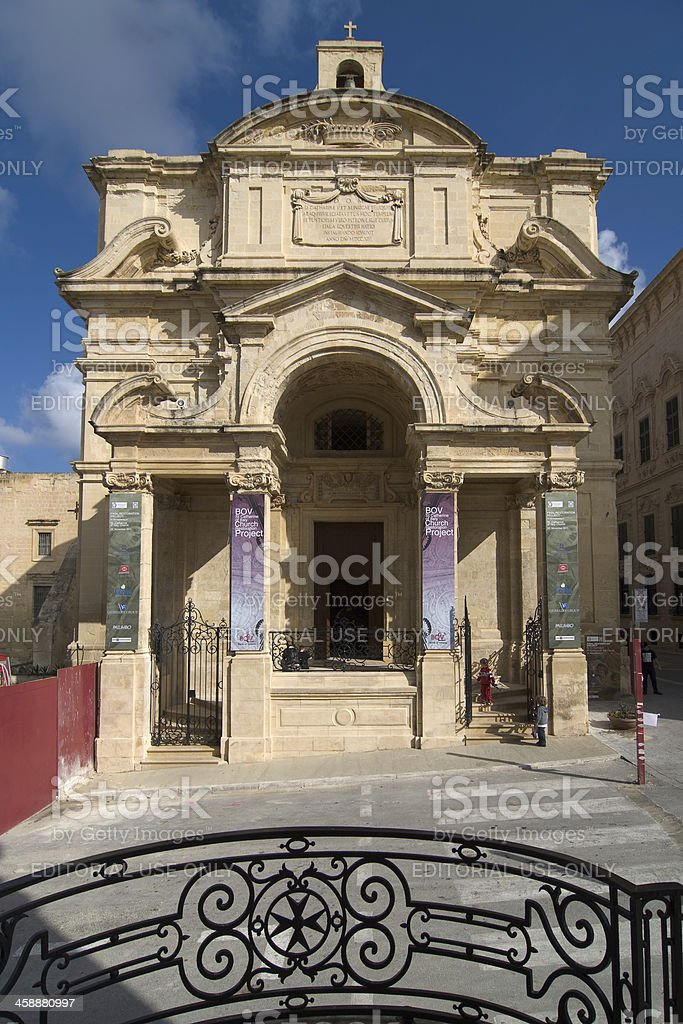 Church Of Santa Caterina D'italia In Valletta, Malta stock photo