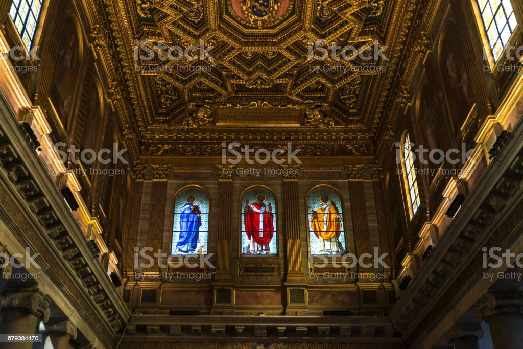 Church of Santa Cecilia in Trastevere, Rome, Italy. royalty-free stock photo