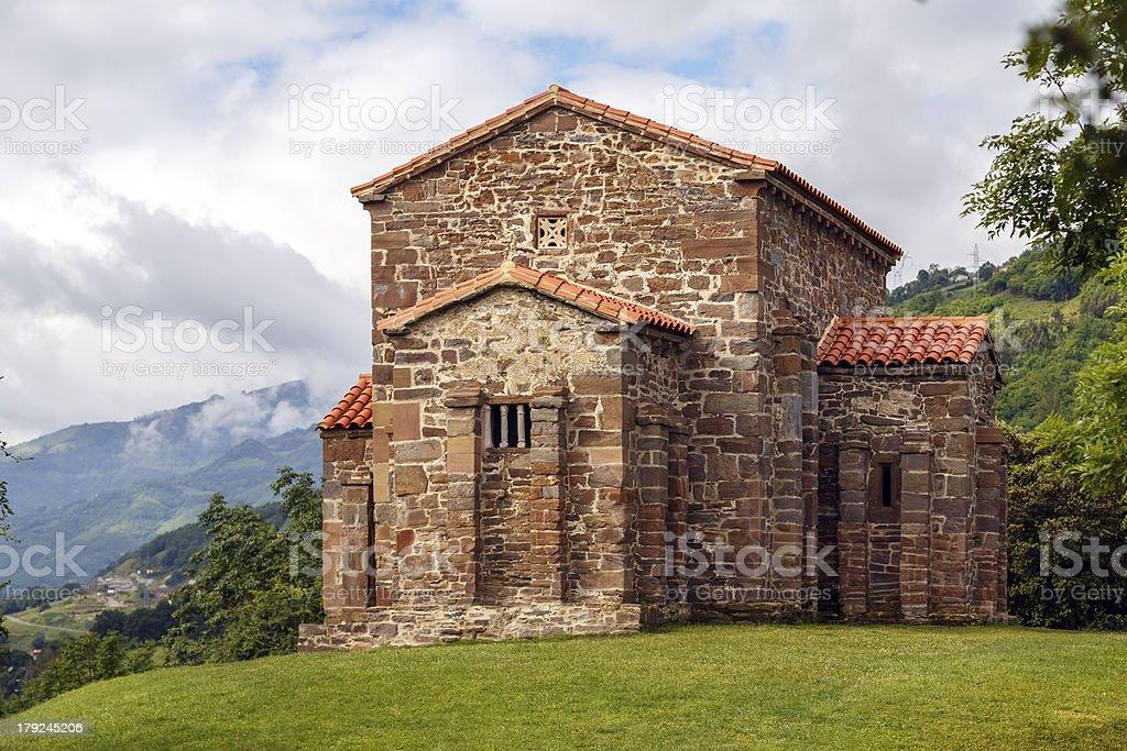 Church of Santa Cristina de Lena Oviedo royalty-free stock photo