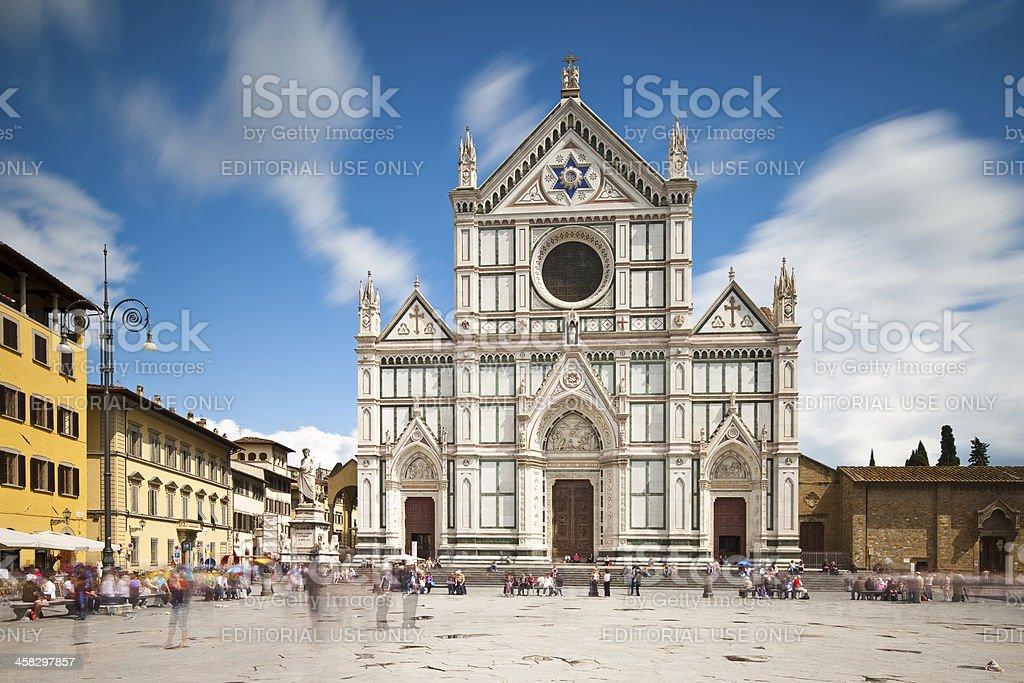 Church of Santa Croce, Florence stock photo