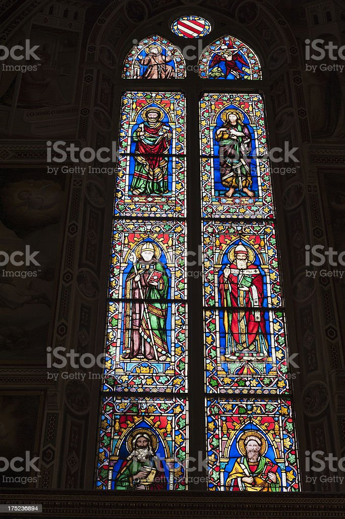 church of santa croce in florence, italy royalty-free stock photo