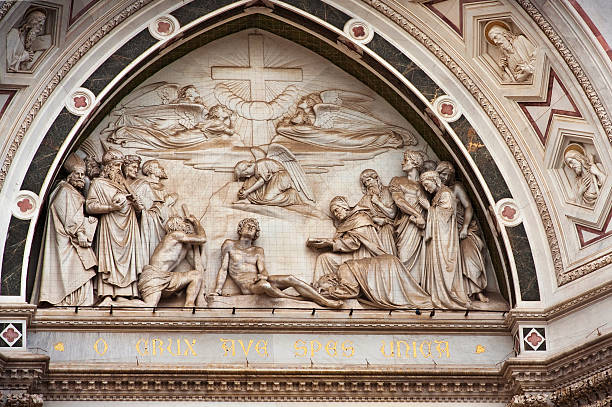 Church of Santa Croce in Florence. stock photo