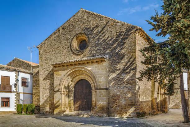 Church of Santa Cruz, Baeza, Spain stock photo