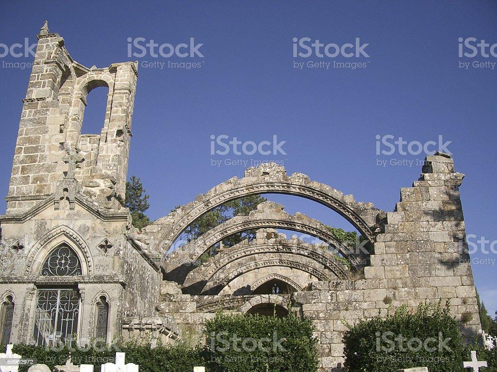 Church of Santa Mariña de Dozo royalty-free stock photo