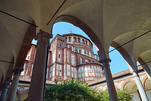 istock Church of Santa Maria delle Grazie in Milan 890635626