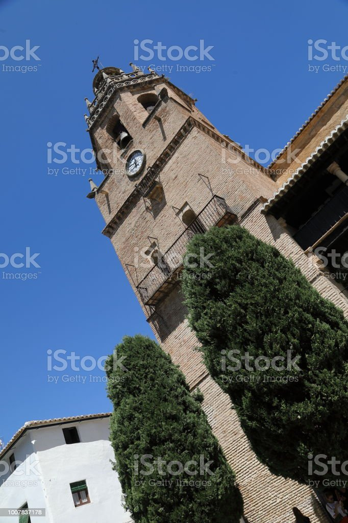 Iglesia de Santa Maria la Mayor, Ronda stock photo