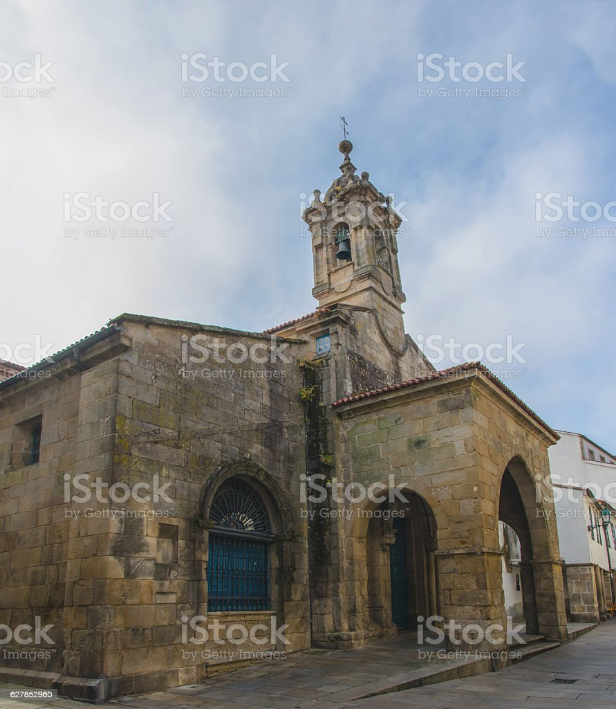 Church of Santa Maria Salome in Santiago de Compostela stock photo