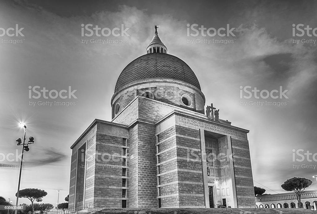 Church of Santi Pietro e Paolo in Rome, Italy stock photo