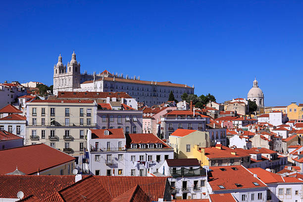 Church of Sao Vicente of Fora in Lisbon stock photo