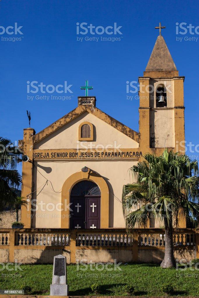 Church of Senhor Bom Jesus, built at 1889, Paranapiacaba - Brazil stock photo