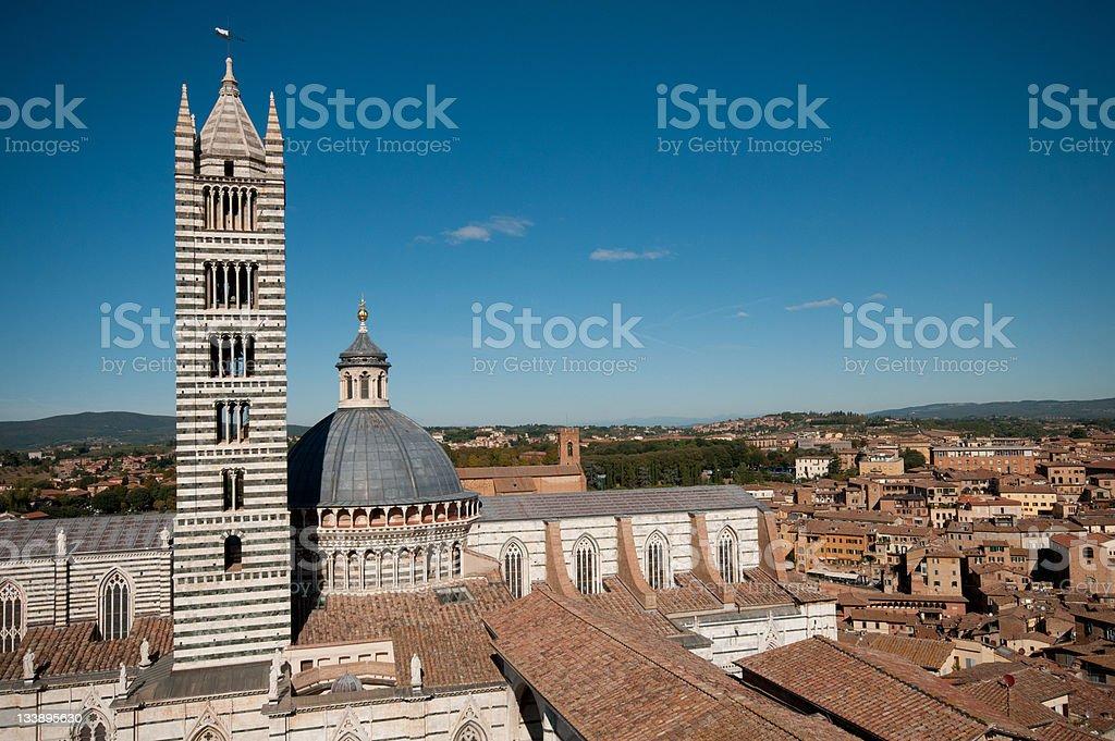 Church of Siena stock photo