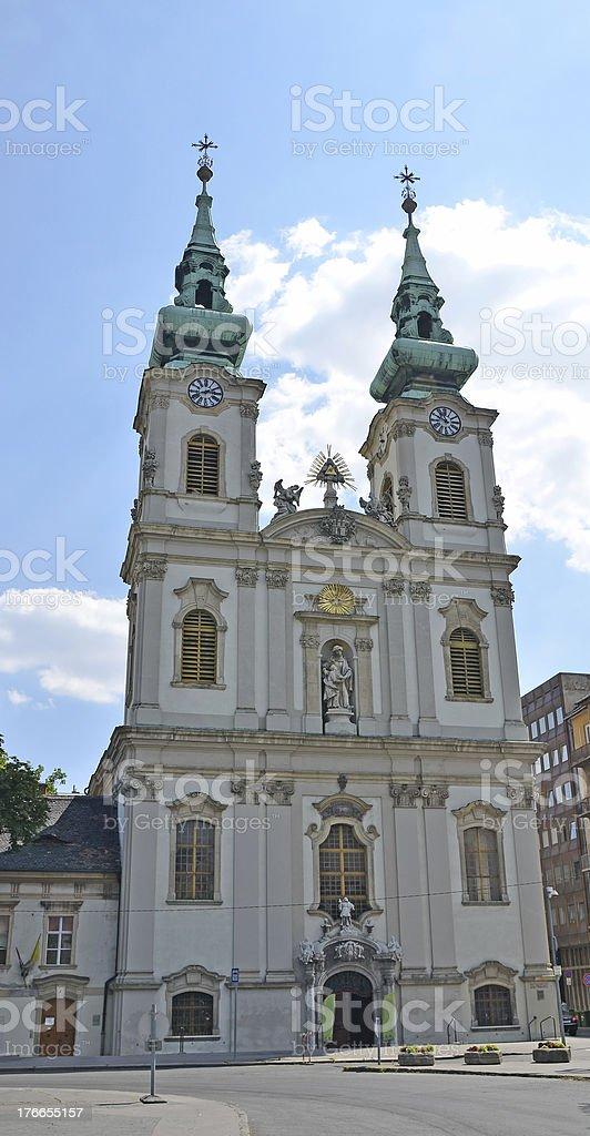 Iglesia de St Anne Budapest, Hungría foto de stock libre de derechos