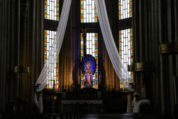 church of st. anthony of padua, istanbul - st. anthony of padua stock photos and pictures