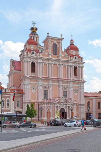 Church of St. Casimir in Vilnius stock photo