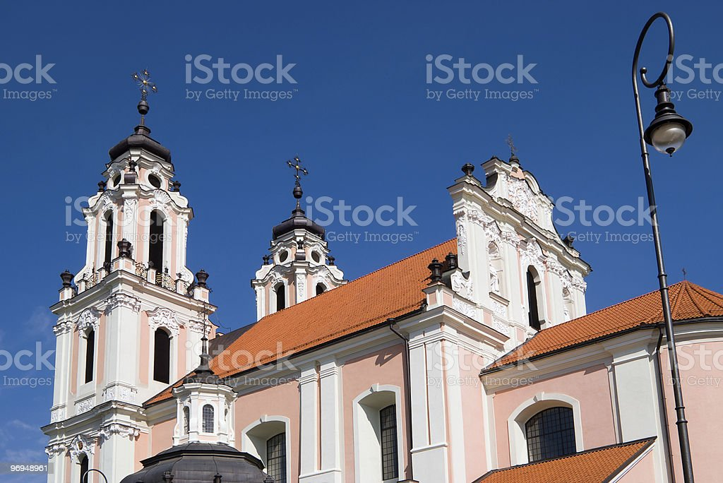 Church of St. Catherine in Vilnius, Lithuania royalty-free stock photo
