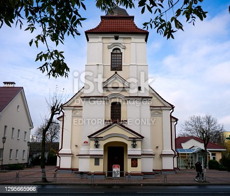 Church of St. Charles Borromeo in old Karolin Pinsk Belarus October 20 2020.