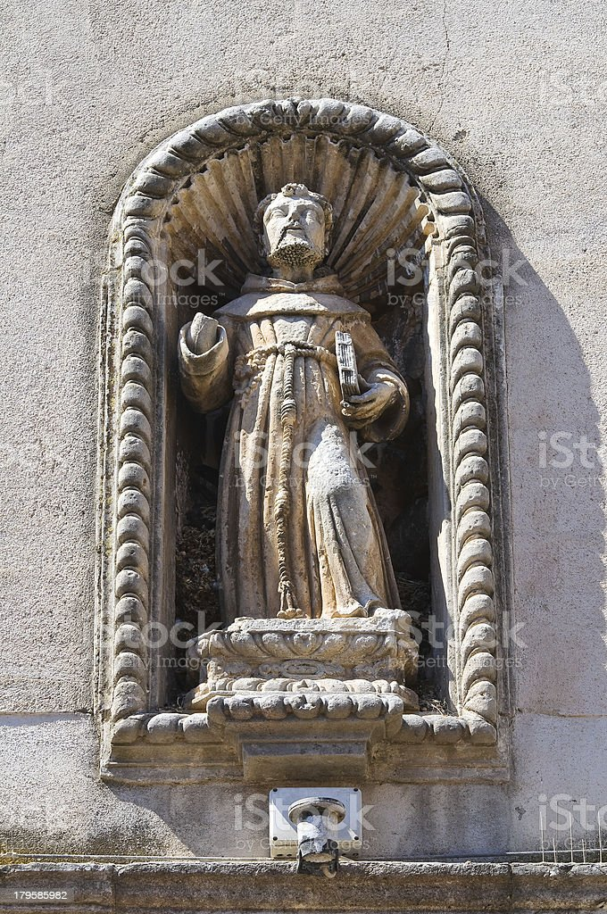 Church of St. Chiara. Manfredonia. Puglia. Italy. royalty-free stock photo