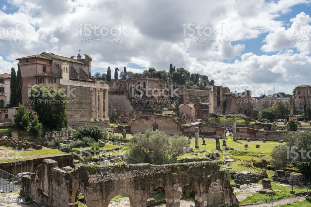 Church of St Cosma and Damion in Rome stock photo