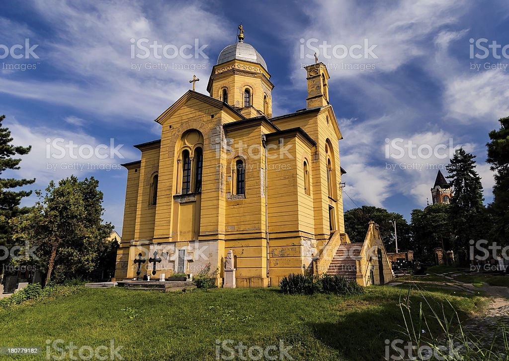 Church of St. Dimitrije in Belgrade stock photo