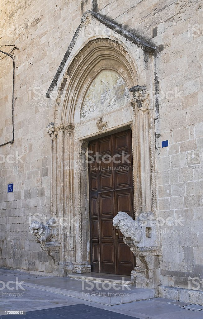 Church of St. Domenico. Manfredonia. Puglia. Italy. royalty-free stock photo