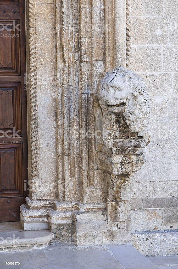 Church of St. Domenico. Manfredonia. Puglia. Italy. royalty-free stock photo