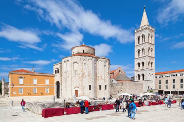Church of St Donatus in Zadar stock photo