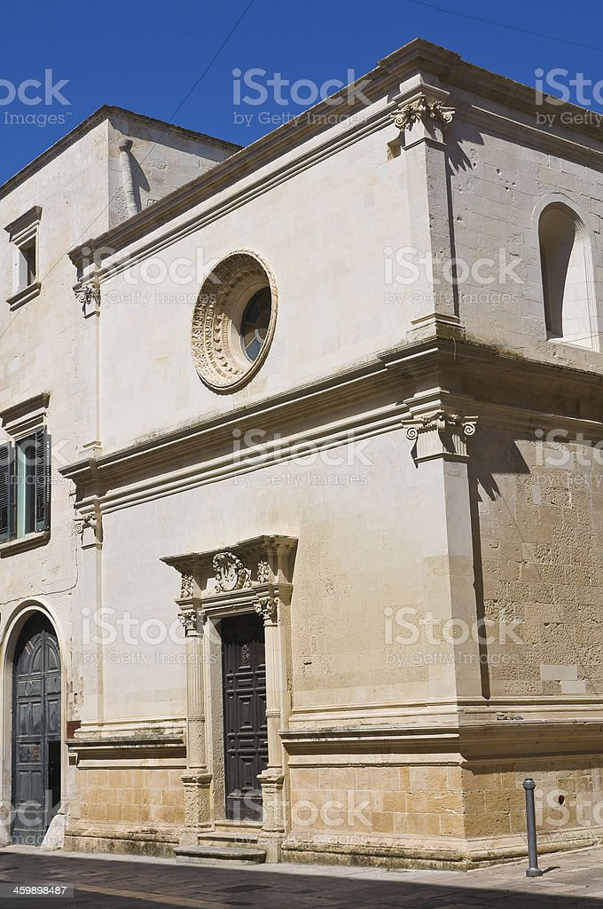 Church of St. Eisabetta. Lecce. Puglia. Italy. royalty-free stock photo