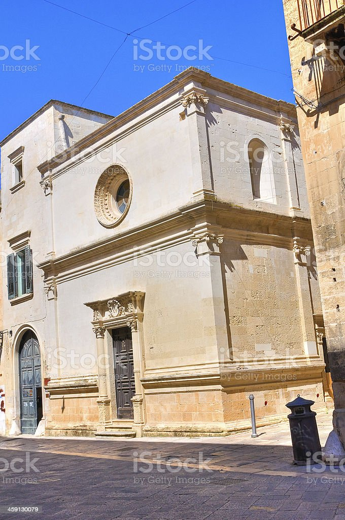Church of St. Elisabetta. Lecce. Puglia. Italy. royalty-free stock photo